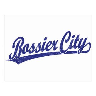 Bossier City script logo in blue Postcard