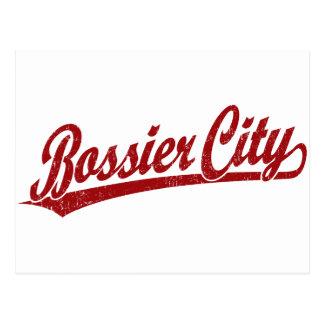 Bossier City script logo in red Postcard