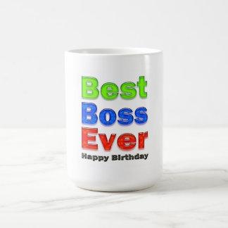 Boss's Birthday Gift Best Boss Ever Basic White Mug