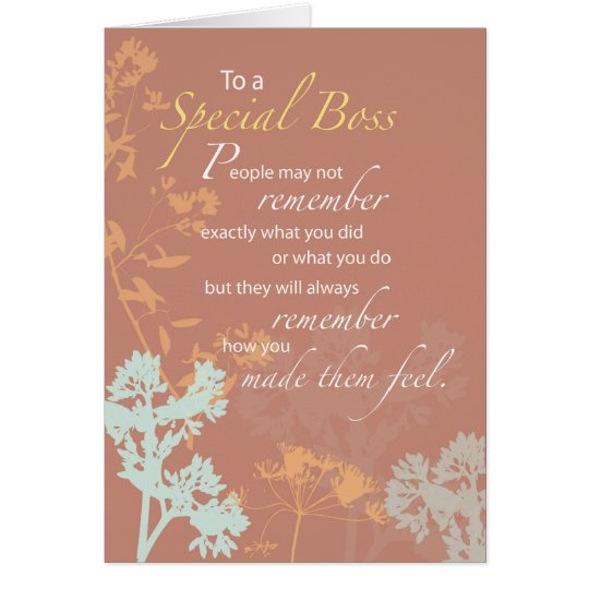 Boss's Day Brown, Wildflowers Silhouette, Apprecia Card