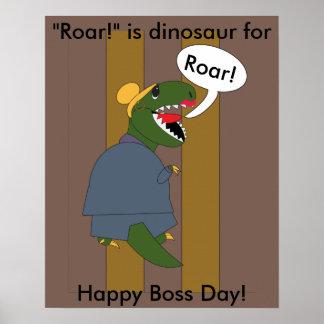 Boss's Day T-Rex Dinosaur (Female) Poster