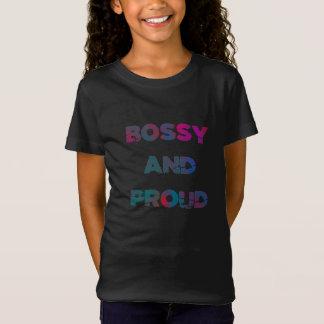 Bossy and Proud Girl Power Kids Feminist T-shirt