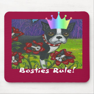Bosties Rule! Boston Terrier Mousepad
