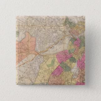 Boston 2 15 cm square badge