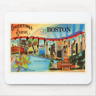 Boston #2 Massachusetts MA Vintage Travel Souvenir Mouse Pad