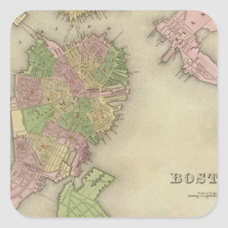 Boston 2 square sticker