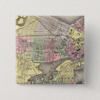 Boston 3 15 cm square badge