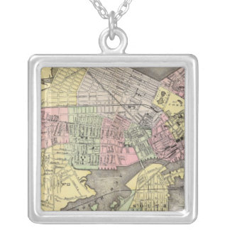 Boston 3 silver plated necklace