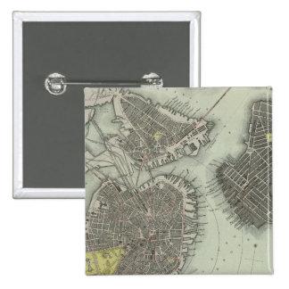 Boston 4 15 cm square badge