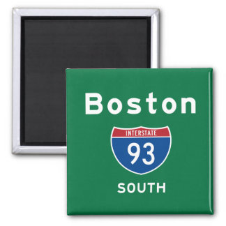 Boston 93 square magnet