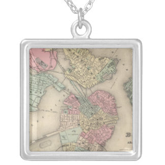 Boston and Adjacent Cities Silver Plated Necklace