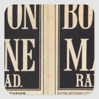 Boston and Maine Railroad Square Sticker