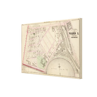 Boston and Providence Rail Road Co yard Atlas Map Canvas Print
