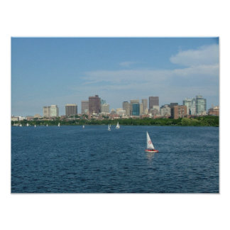 Boston and the Charles River Poster