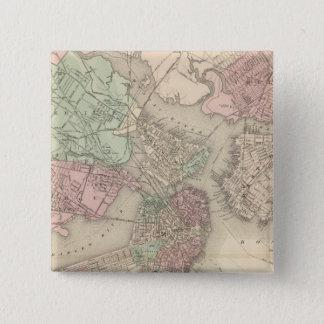 Boston and Vicinity 15 Cm Square Badge
