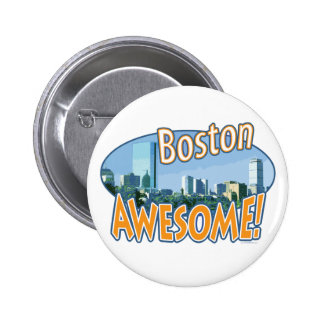 Boston Awesome Gear by Mudge Studios 6 Cm Round Badge