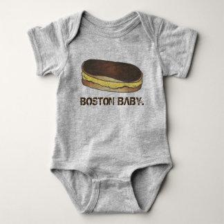 BOSTON BABY Boston Cream Pie Eclair Foodie Pastry Baby Bodysuit