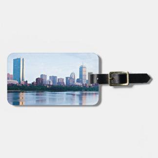 Boston Back bay across Charles River Bag Tag