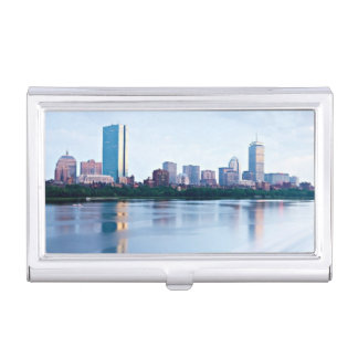 Boston Back bay across Charles River Business Card Holder