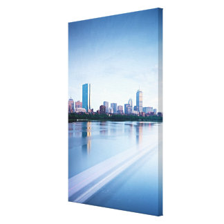 Boston Back bay across Charles River Canvas Print