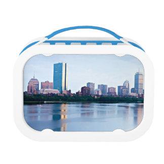 Boston Back bay across Charles River Lunch Box