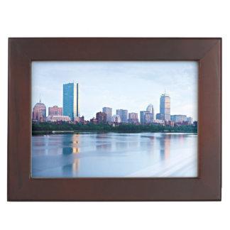Boston Back bay across Charles River Memory Box