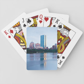 Boston Back bay across Charles River Playing Cards