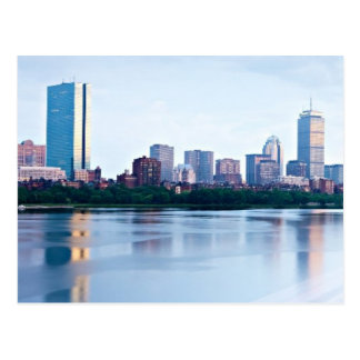 Boston Back bay across Charles River Postcard