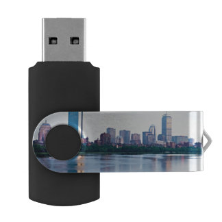 Boston Back bay across Charles River USB Flash Drive