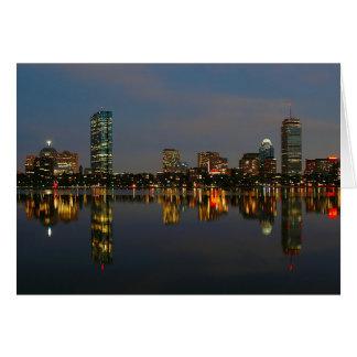 Boston Backbay at Night Greeting Card