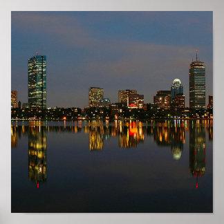 Boston Backbay at Night Poster