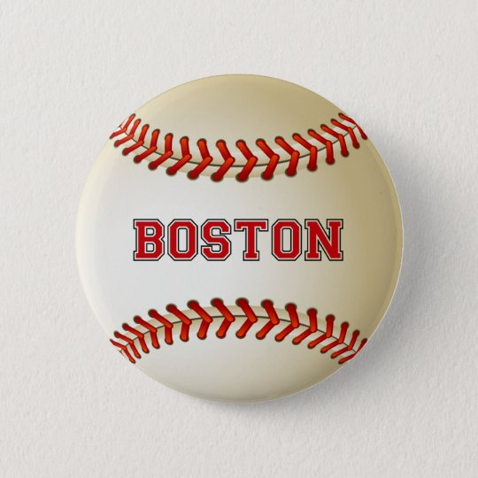 BOSTON BASEBALL 6 CM ROUND BADGE