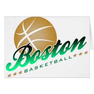 Boston Basketball Greeting Card
