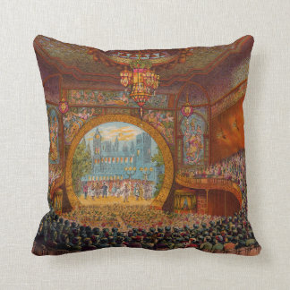 Boston Bijou Theatre Throw Pillow