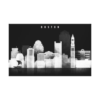 Boston Black and White Canvas Print