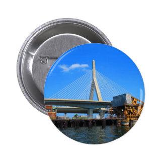 Boston Bridge Photo on gifts 6 Cm Round Badge