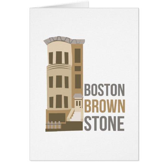 Boston Brownstone Card