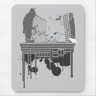 Boston Brutal grey version Mouse Pad