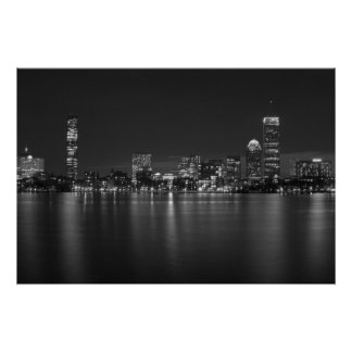 Boston by Night Poster