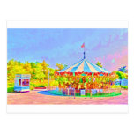 Boston Carousel by Shawna Mac Postcard