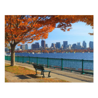 Boston Charles River Autumn Postcard