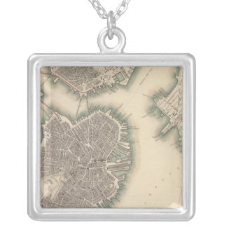 Boston, Charlestown, Roxbury Silver Plated Necklace
