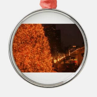 Boston Christmas Tree Faneuil Hall Marketplace Silver-Colored Round Decoration