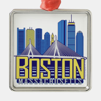 Boston City Colors Christmas Ornament