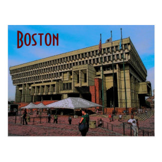 Boston City Hall Postcard