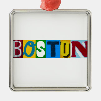 Boston Colorful  Letters Christmas Ornament