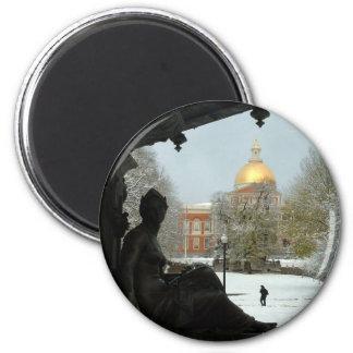 Boston Common 6 Cm Round Magnet