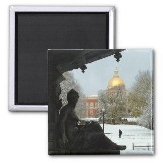 Boston Common Square Magnet