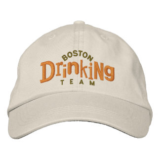 Boston Drinking Team Embroidery Hat Embroidered Baseball Cap
