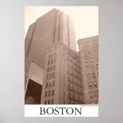"""Boston - """"Enlightened City"""" Poster"""